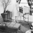 The 1963 General Electric Porta-cart air conditioner — Stock Photo