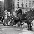 Riding in Style - carriage driver at Grand Army Plaza  — Stok fotoğraf