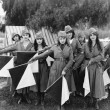 Female signal corps — Stockfoto
