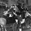 Wealthy group of in horse drawn carriage — Stock Photo
