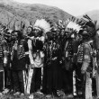 Group of Native Americans in traditional garb — Stock Photo
