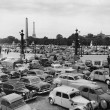 Traffic jam in Paris France - Stock Photo