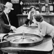 Stock Photo: At roulette table in bar
