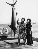 Marlin šílenství — Stock fotografie