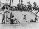 Festa na piscina — Foto Stock