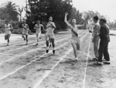 γραμμή του τερματισμού — Φωτογραφία Αρχείου