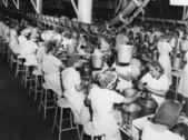 εργαζομένων στο εργοστάσιο — Φωτογραφία Αρχείου