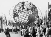 The Unisphere, symbol of the New York 1964-1965 — Foto Stock