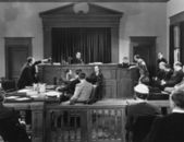 Courtroom scene — Stock Photo