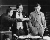 Oskarżając kolega biznesmen — Zdjęcie stockowe