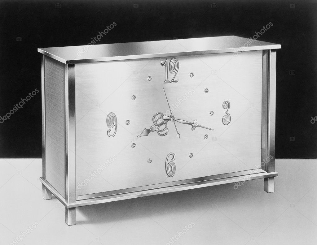 Desk clock, circa 1950s — Stock Photo #12287593