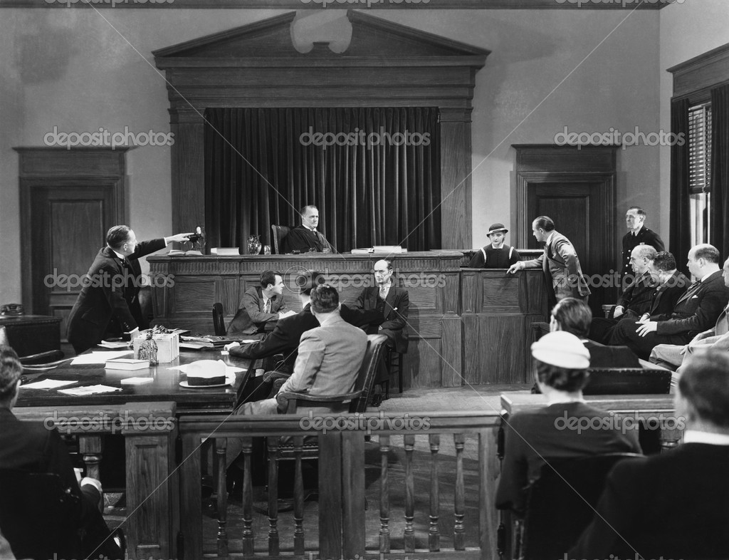 Courtroom scene — Stock Photo #12289351