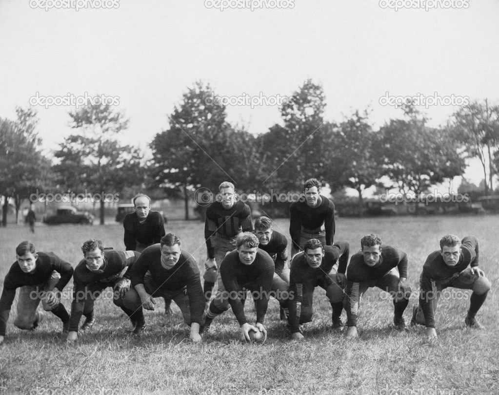 Football team in field — Stock fotografie #12289749