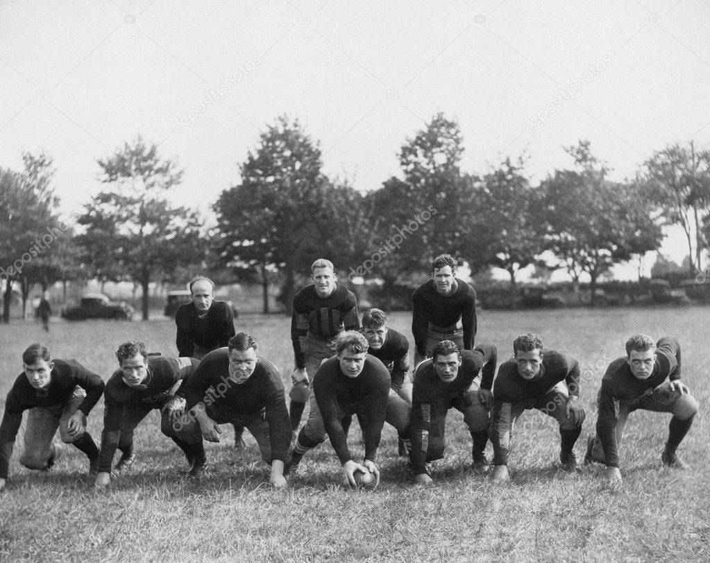 Football team in field — Zdjęcie stockowe #12289749