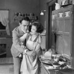 paar in keuken — Stockfoto