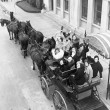 Group of women in horse drawn carriage — Стоковая фотография