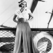Woman in sailor outfit - Foto Stock