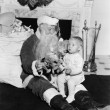 Excited child with Santa Claus — ストック写真