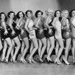 Line of female dancers - Stock Photo