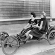 Two women in go kart — Stock fotografie