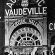 Stock Photo: Poster of the automatic Vaudeville