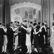 Stok fotoğraf: Group of dancing in ballroom