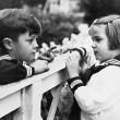 Brother and sister talking with each other — Stock Photo #12297760