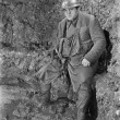 Soldier in a trench in World War I - Stock Photo