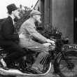 Two men riding motorbike — Stock Photo #12299025
