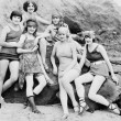 Six women posing at the beach — Stock Photo #12299354