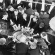 High angle of a group of playing roulette - Foto Stock