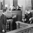 Lawyer and a witness in a courtroom - Foto de Stock