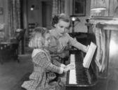 Aula de piano — Fotografia Stock