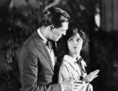 напряженной взаимодействие между мужчиной и женщиной — Стоковое фото