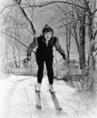 Portrait of female skier — Stock Photo