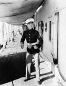 Portrait of eager sailor — Stock Photo