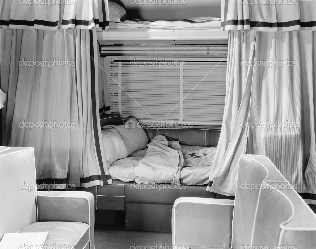 Sleeping compartment on train  Stock Photo #12290036