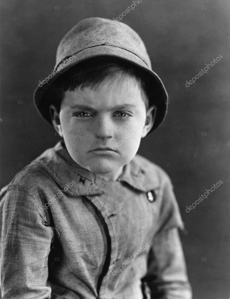Portrait of a boy looking serious — Stock Photo #12294678