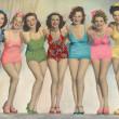 Women posing in bathing suits — Stock Photo