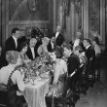 middagsbjudning — Stockfoto
