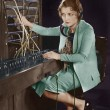 Portrait of telephone operator — Stock Photo