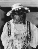 Masked woman — Stock Photo