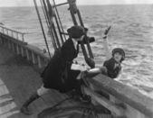 Kadın denize — Stok fotoğraf