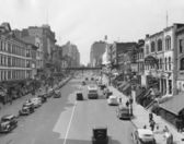Cityscape of E. 86th Street in 1930s New York — Stok fotoğraf
