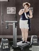 WEIGHT WATCHER — Stock Photo