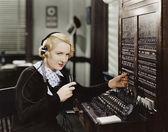 τηλεφωνικό κέντρο — Φωτογραφία Αρχείου
