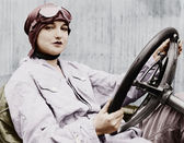 Portrait of female driver — Stock Photo