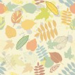 Vintage autumn seamless pattern vector - ベクター素材ストック