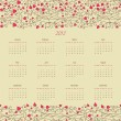 Royalty-Free Stock Vector Image: Vintage retro calender of 2013 new year vector