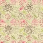Swirl pop art graphic floral background vector — Stock Vector
